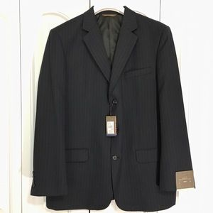 Merona Navy Pin Stripe Suit Jacket 46R